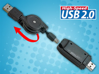 "c-enter USB 2.0 High-Speed PC-Link-Kabel ""Treiberfrei"""