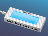 "c-enter 4-Port USB2.0 Mini Hub ""Blue Shine"""
