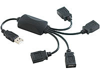 "c-enter 4-Port-Hub mit Kabelzugaben, USB1.1, ""Cable Hub"""