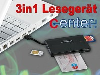 c-enter SIM SMART Card-Reader & M2/ microSD/MS Pro  SDHC/SDXC PC/SC 2.0